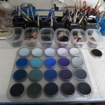 The blue side of my ORANGE/BLUE palette
