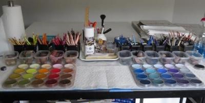 The whole palette set up