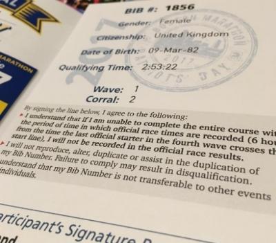 Boston Marathon Runners Passport