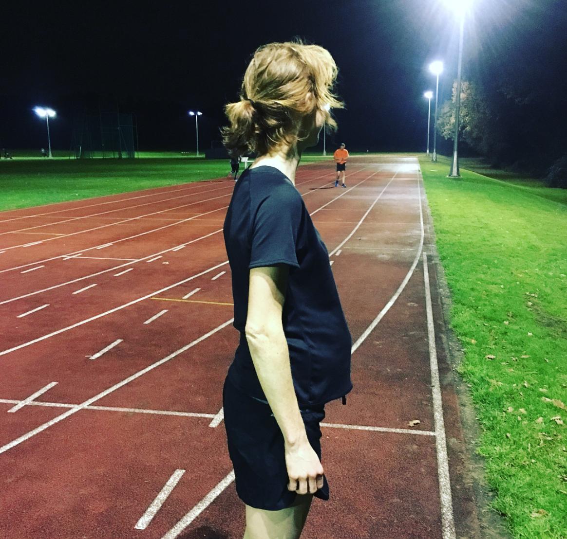 Pregnant Runner Track Tuesday