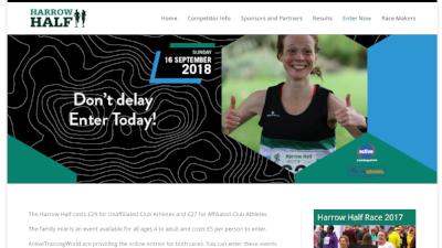 Harrow Half Marathon Gill Bland