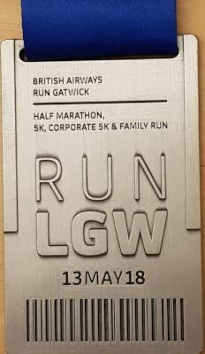 Run Gatwick Medal