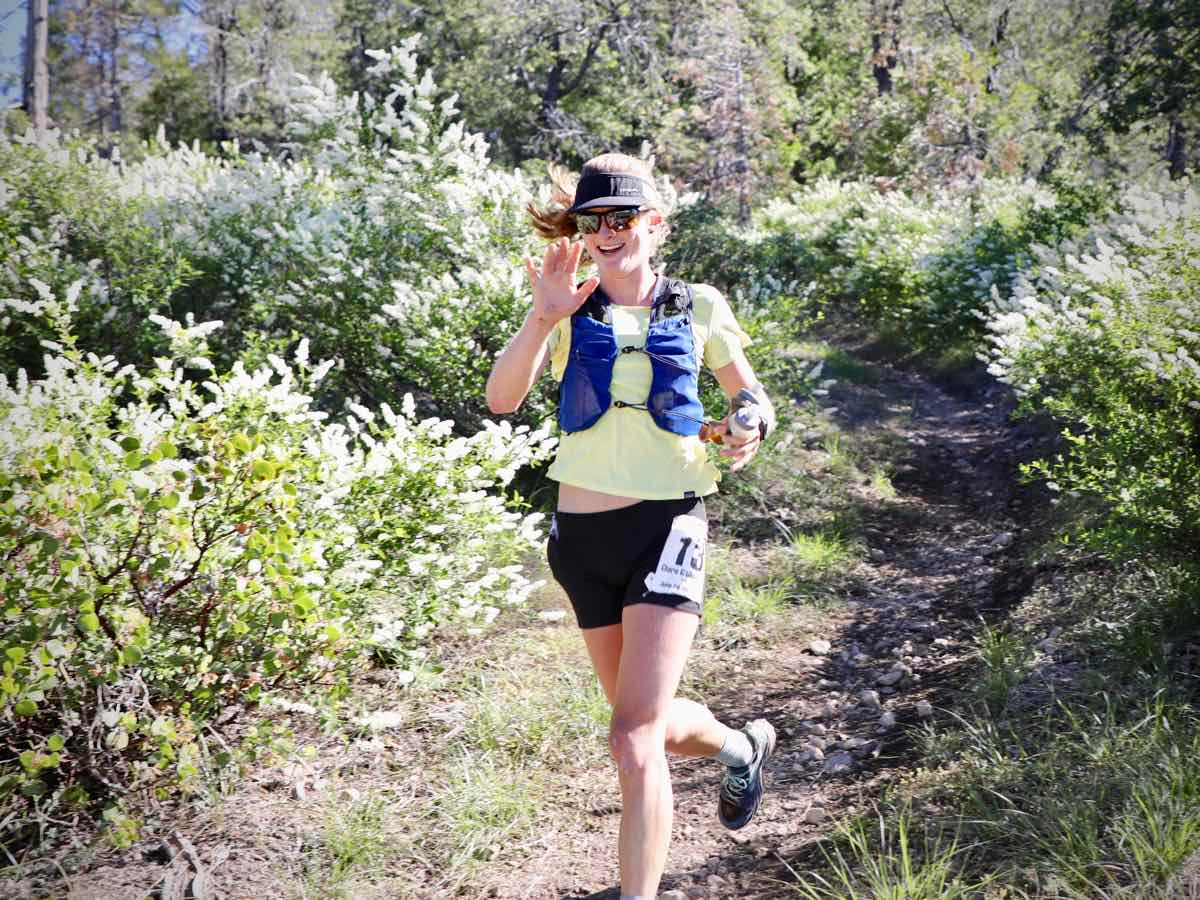 Clare Gallagher a quarter of the way into the 2019 Western States 100. Photo: iRunFar/Meghan Hicks
