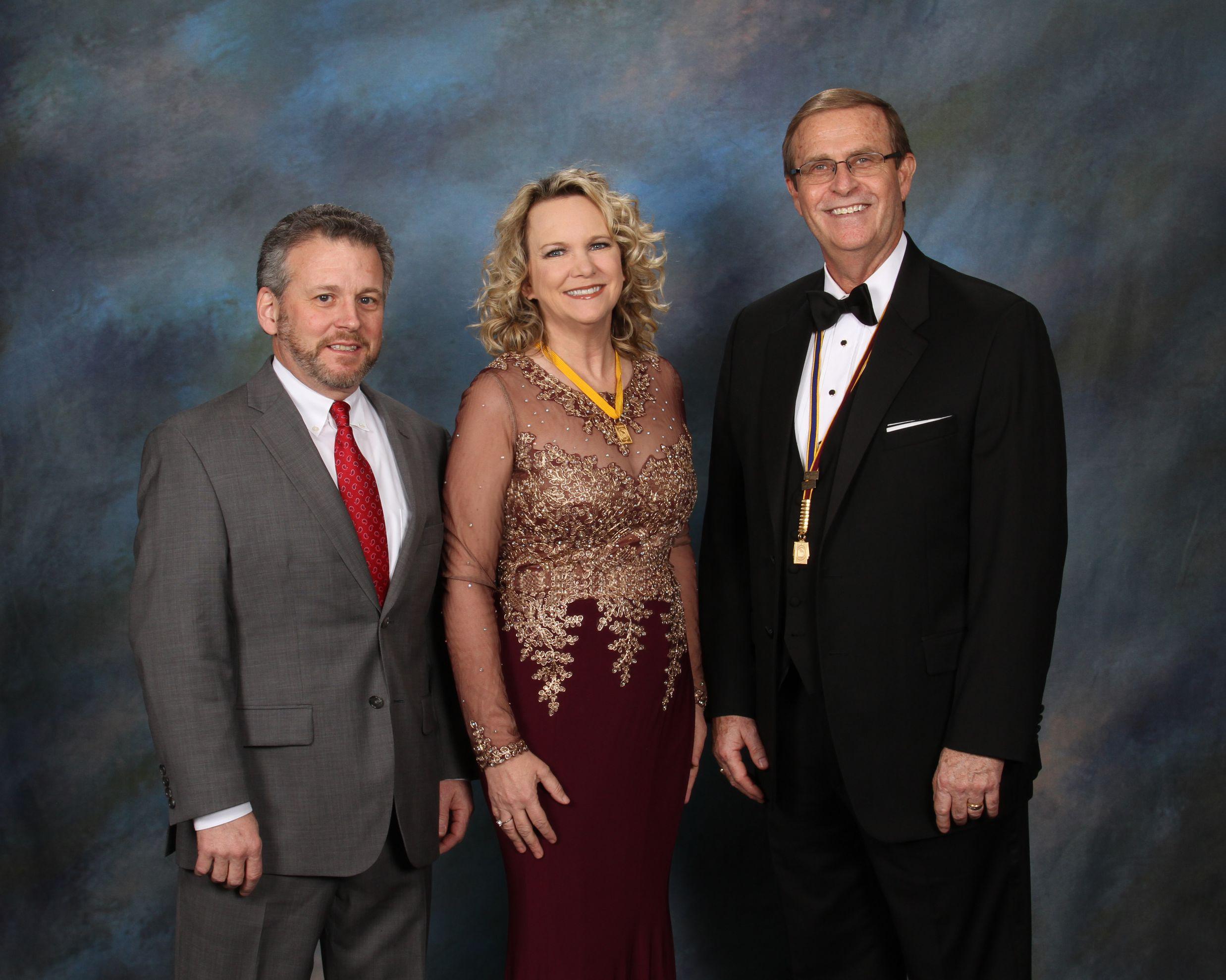Doug Kolbenschlag (sponsor),  Lori Kolbenschlag, M. Photog., CPP,  Stephen Thetford PPA President
