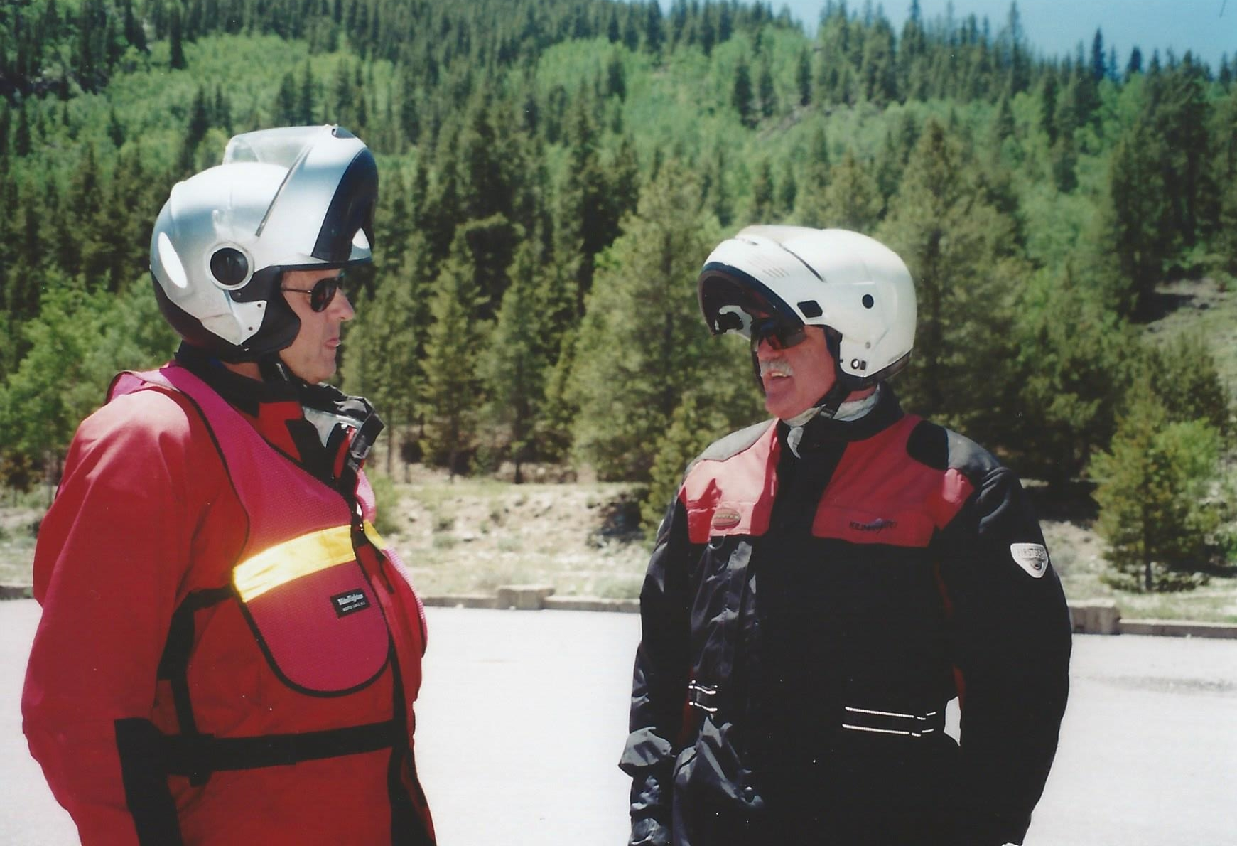 Roger and Bill discuss the route.jpg