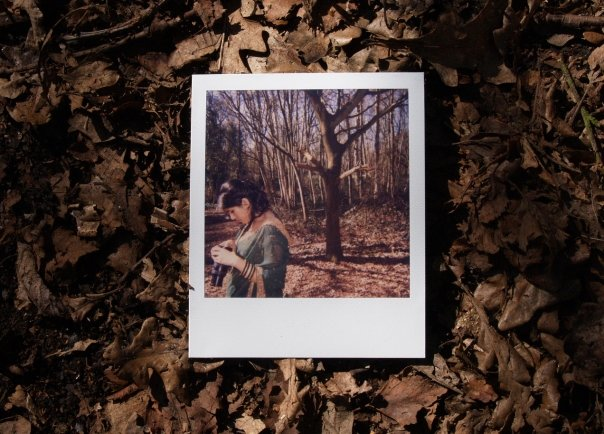 Adventures in photography, circa 2004, dragging a willing friend into the woods for portraits...