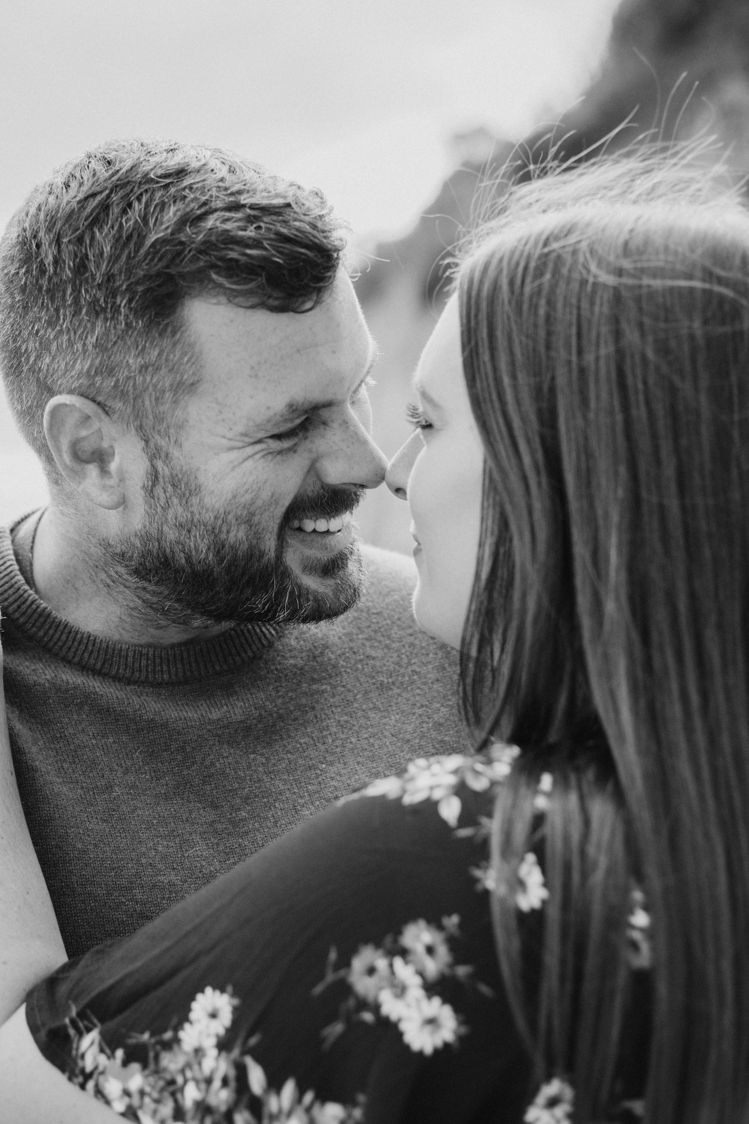 """""""Katie is such a warming person from the moment you meet her. She made us feel so comfortable on our engagement shoot that all our worries of a professional camera on the big day completely disappeared."""" -"""