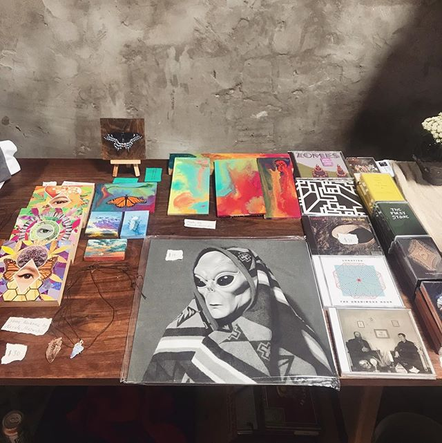 Pepto is selling our art at Clavel today 11-4pm, along with other artists who are selling paintings, prints, pottery, jewelry, music, vintage clothing, etc. Please stop by!