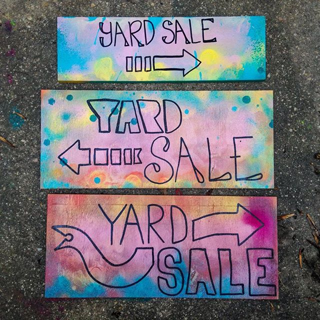 Yard sale! Tomorrow (Sunday) we and some friends will be selling lots of fun stuff at Pepto. Clothes, instruments, art, books, records, lemonade, and more. Welcome!  2103 Erdman
