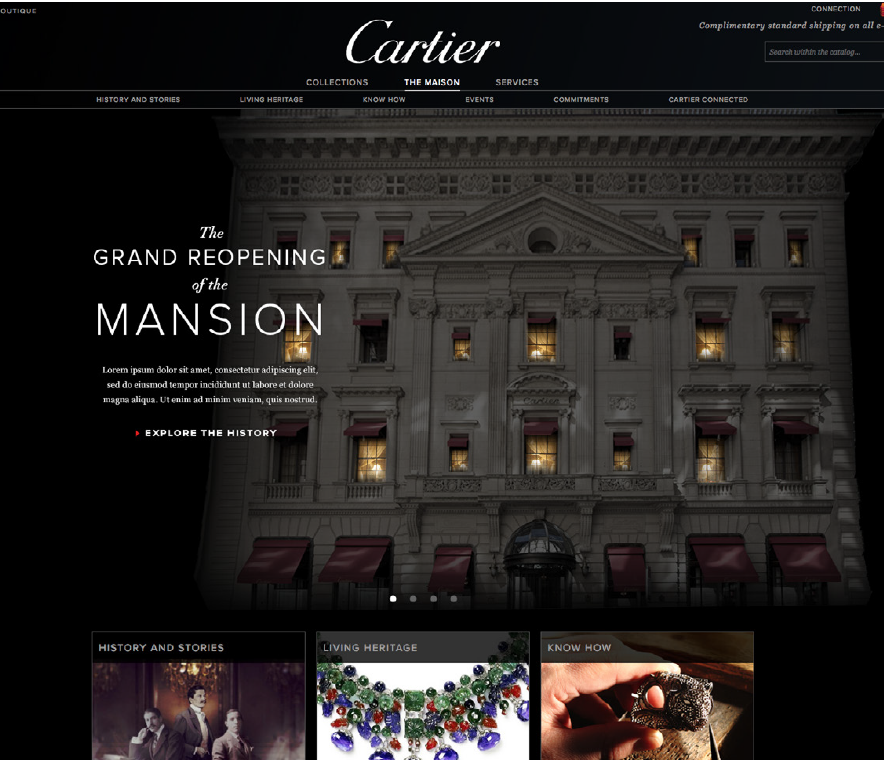 The Advent Calendar Microsite - We created an interactive landing page featuring a rendering of the mansion, with clickable windows revealing fascinating insights about the building, the history as well as exclusive views of the renovated space. As each snippet was revealed, a light inside the site turned on, counting down the days till the Grand Reopening.