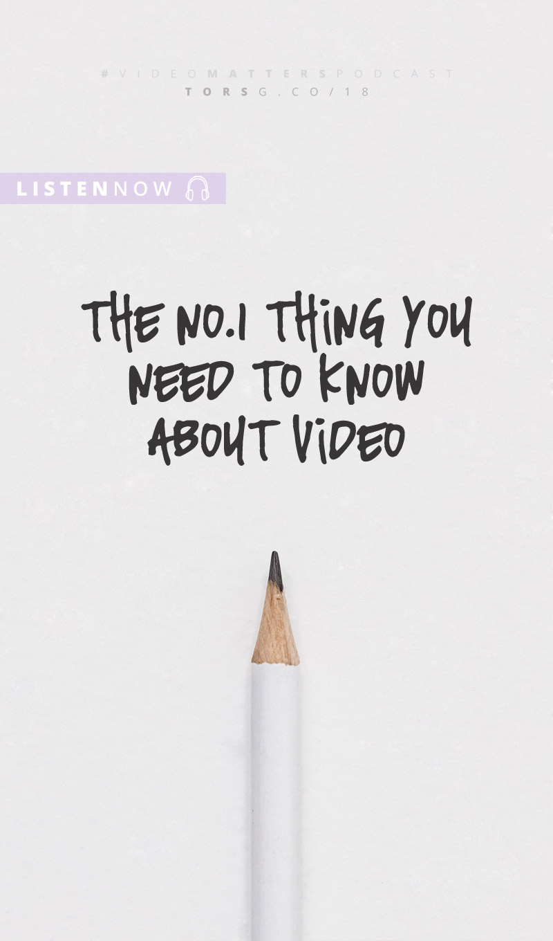 I'm sharing the uncomfortable truth about video in this episode of the #videomatterspodcast, and it could change how you make videos (for the better)