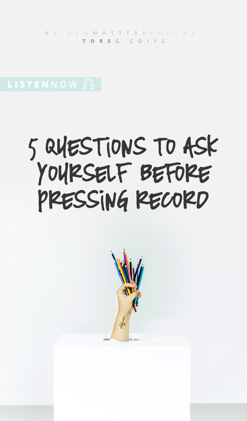 012: 5 Qs to ask yourself before pressing record - this week on the #videomatterspodcast, I'm talking to those of you who want your videos to actually do something for your biz. These questions will help you create video content that helps you grow you biz, instead of just tick a box in the content creation column. Click to listen.