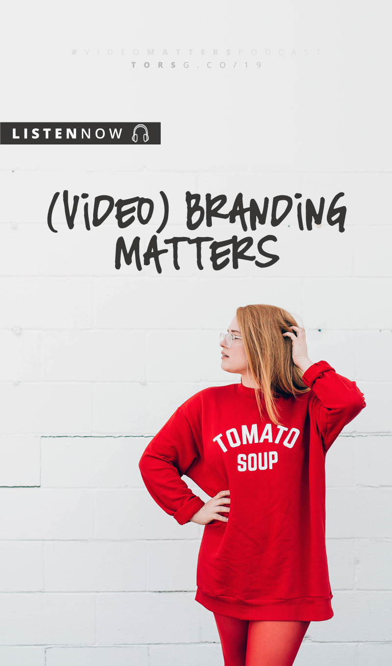 Branding isn't just for your website, everything you put out into the world should feel the same and that goes double for video. This week on the #videomatterspodcast, I look at what makes up video branding and why it's so important