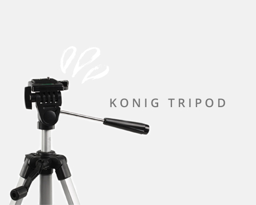 Lightweight but sturdy, this tripod has a quick release plate for your camera and clips on the legs making it super easy to get set-up quick smart.