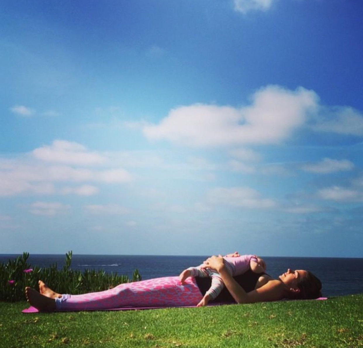 Sweet Savasana surrender with my daughter Alessandra