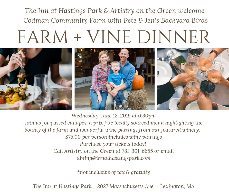 2019 Farm and Vine dinner series - click to expand