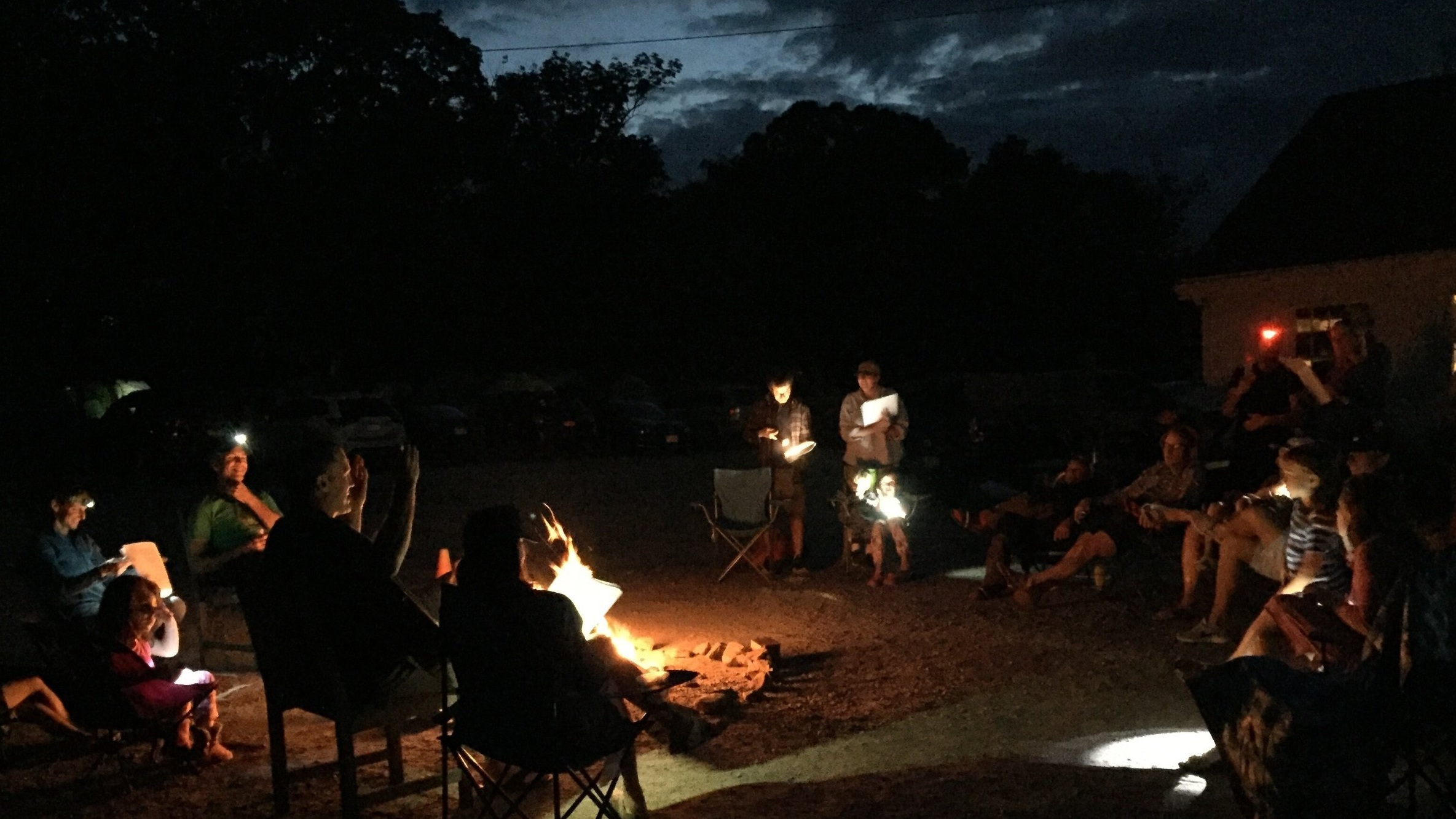 An old-fashioned sing along at the Codman Campfire