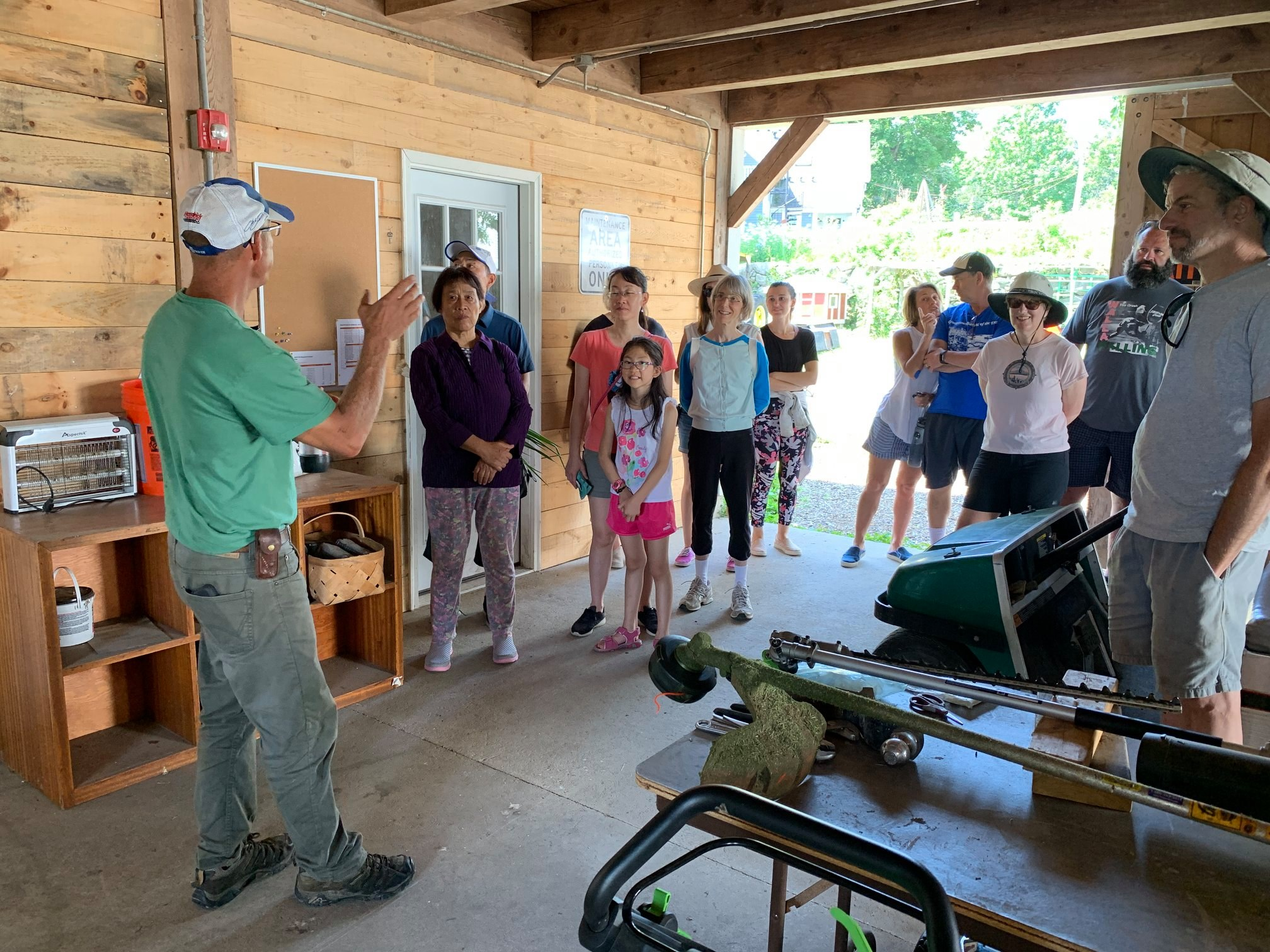 Farm Manager Pete Lowy leads a tour into our farm operations center and egg-washing room