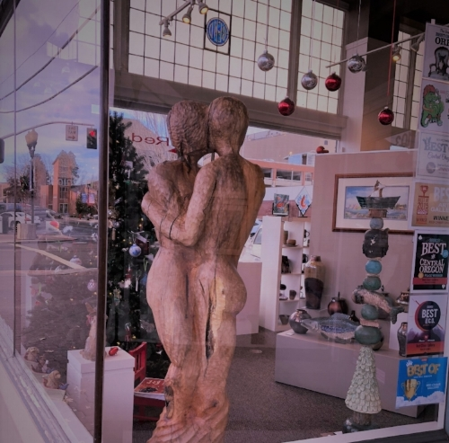 The Red Chair Gallery is hosting my recently completed sculpture in Downtown Bend for the month of December. First Friday next week should be loads of fun and I plan on being there then, but feel free to come down and view M-S 10-6 or Sunday 12-4.