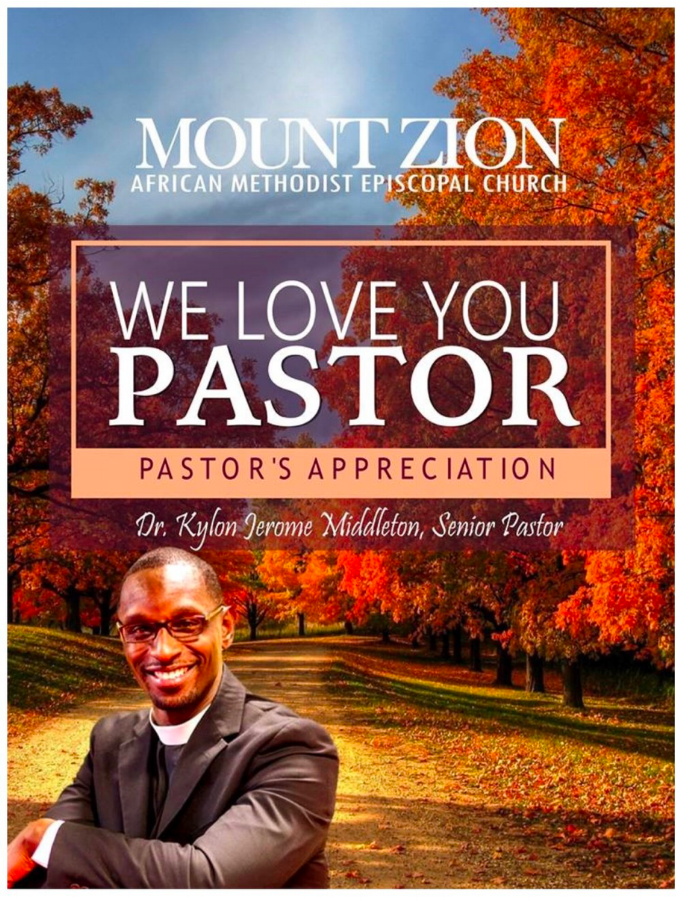 - 1 Thessalonians 1:3 - Remembering without ceasing your work of faith, and labour of love, and patience of hope in our Lord Jesus Christ, in the sight of God and our Father;Pastor Kylon Jerome Middleton may God bless you lavishly for your faithful service to the church.