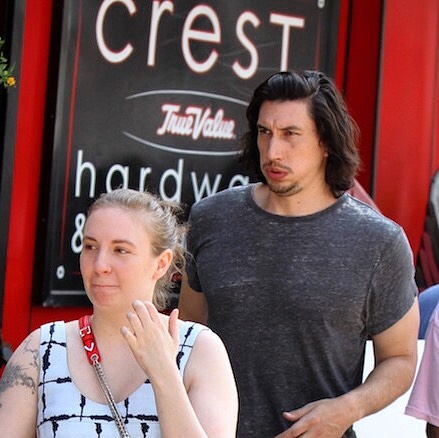 Lena Dunham & Adam Driver of HBO's Girls