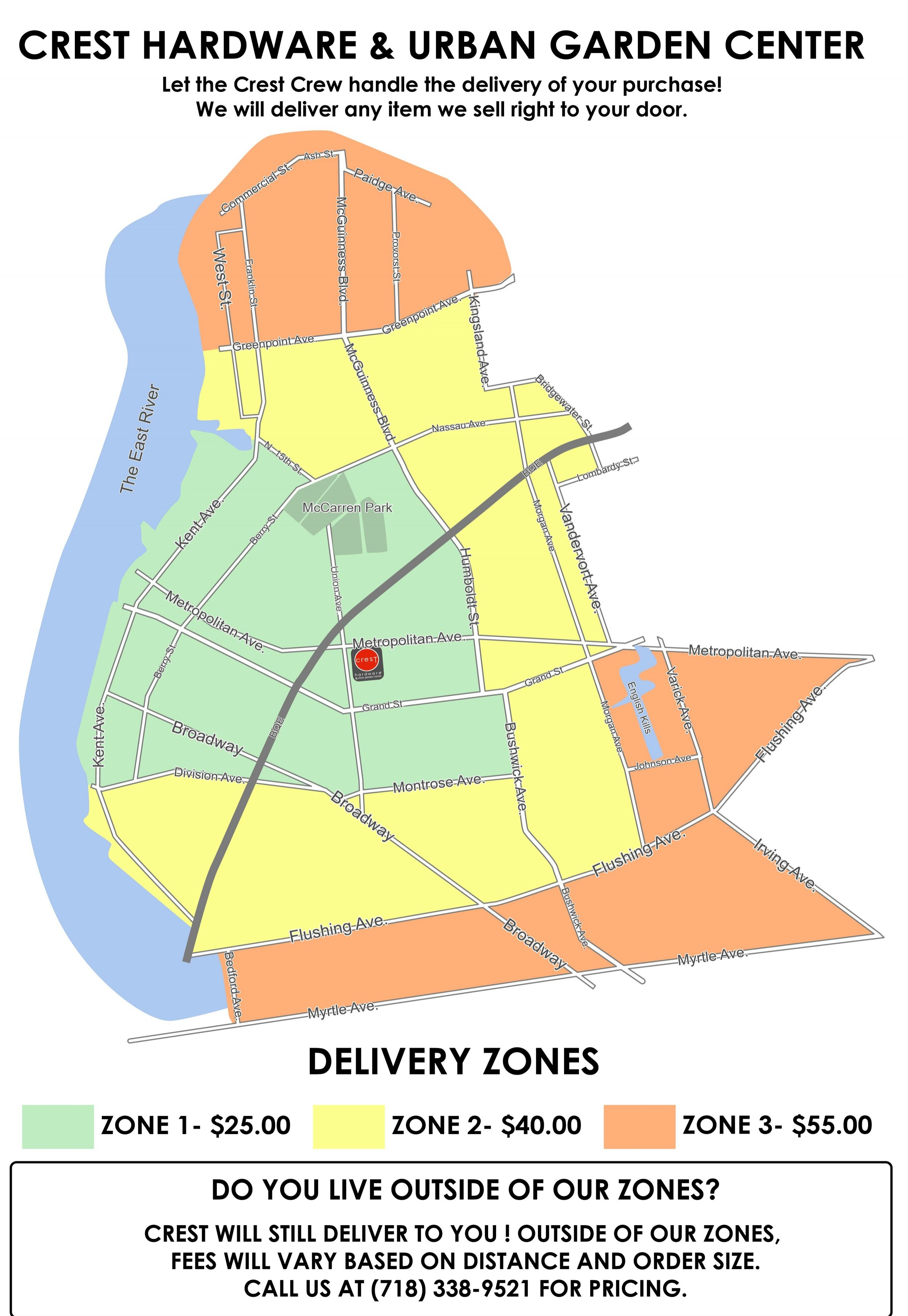 crest delivery map