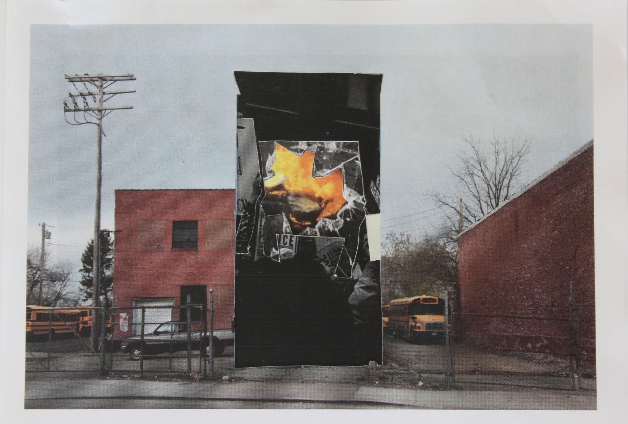 Baltimore is Everywhere #1, collage on A4, 8 ó in. x 11in., 2015