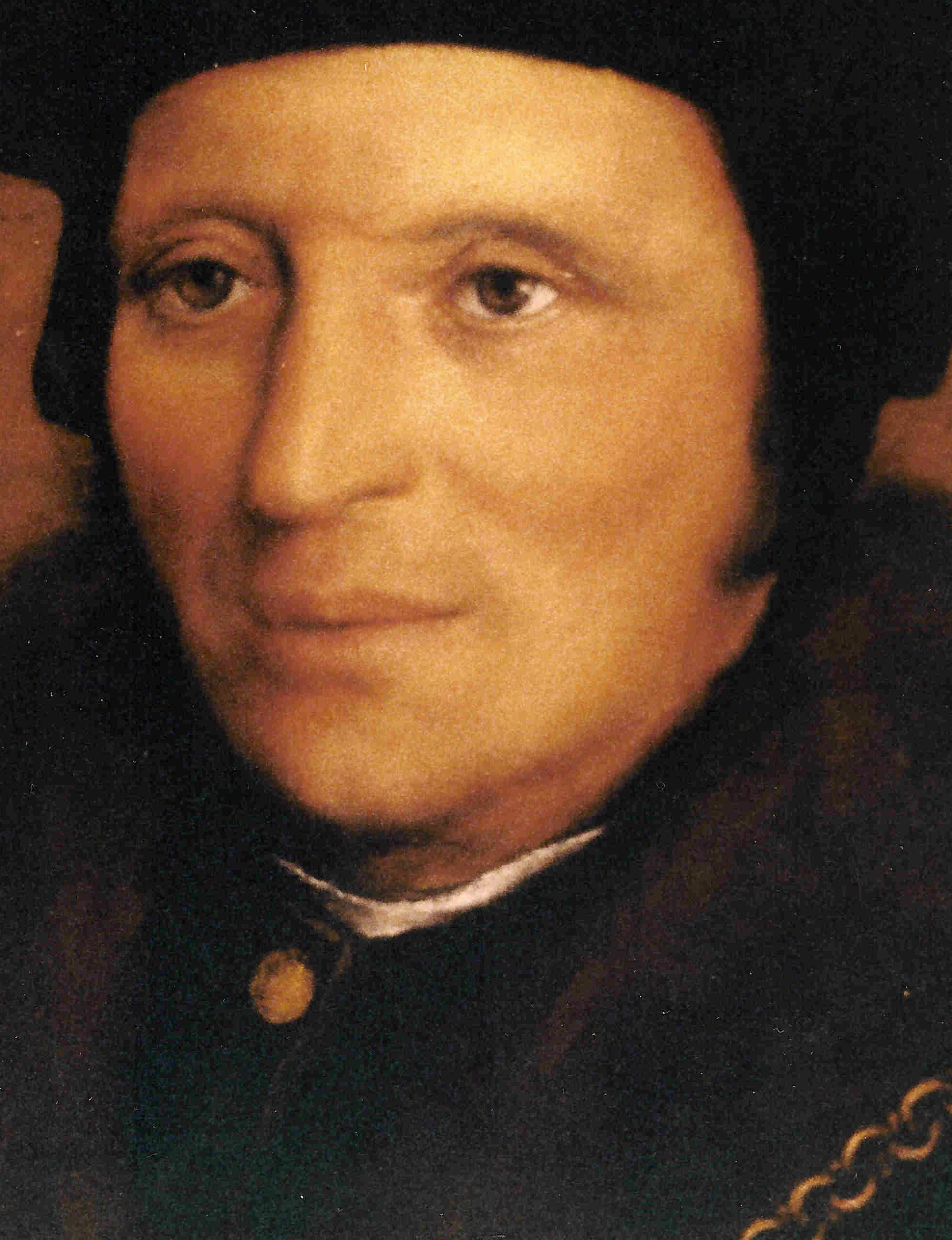 DETAIL of Copy of Portrait of Sir Brian Tuke by Hans Holbein the Younger