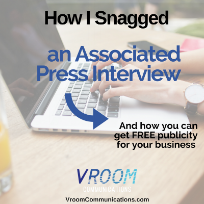 I'm going to tell you exactly how I got an interview with the Associated Press...