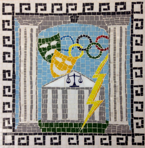 Finished mosaic by BIS students.
