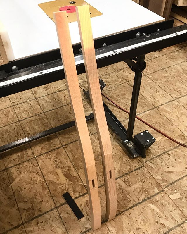 Hey nice legs! Todays boring picture is the new chair prototype back legs. Soon they'll be shaped and the hardest part of this build will be done! Always afraid I'm cutting my mortises in the wrong place on these left and right hand pieces.