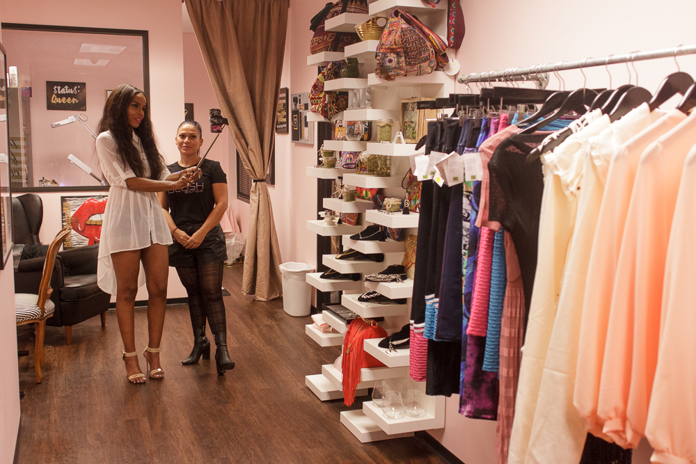 Rosa Cardenas of Blush Boutique chats with Ketonya Bankston of Style Stalkers LLC