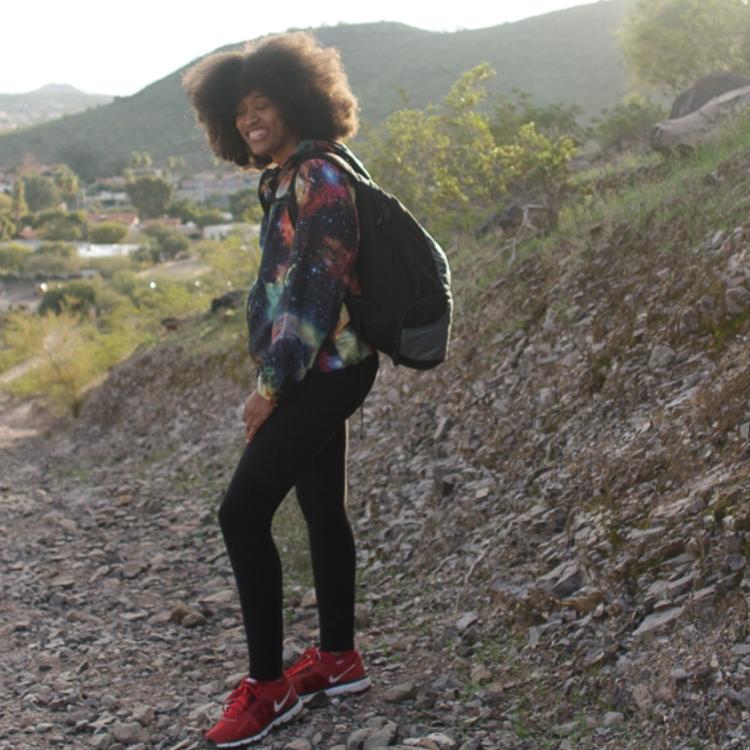 Deanna S Reid, The Social Photog hiking in Phoenix, Arizona