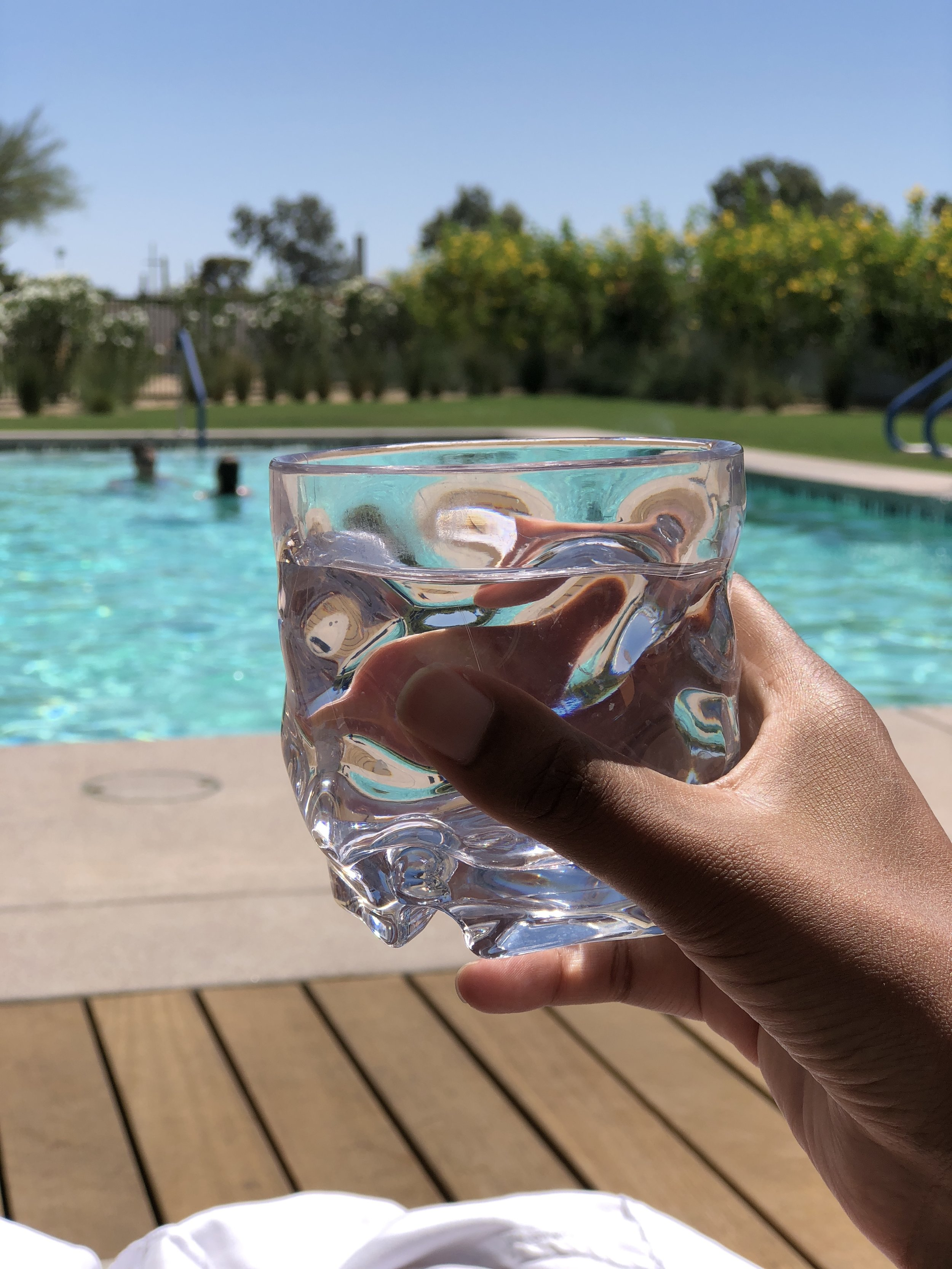 Water by the Pool at Andaz Scottsdale