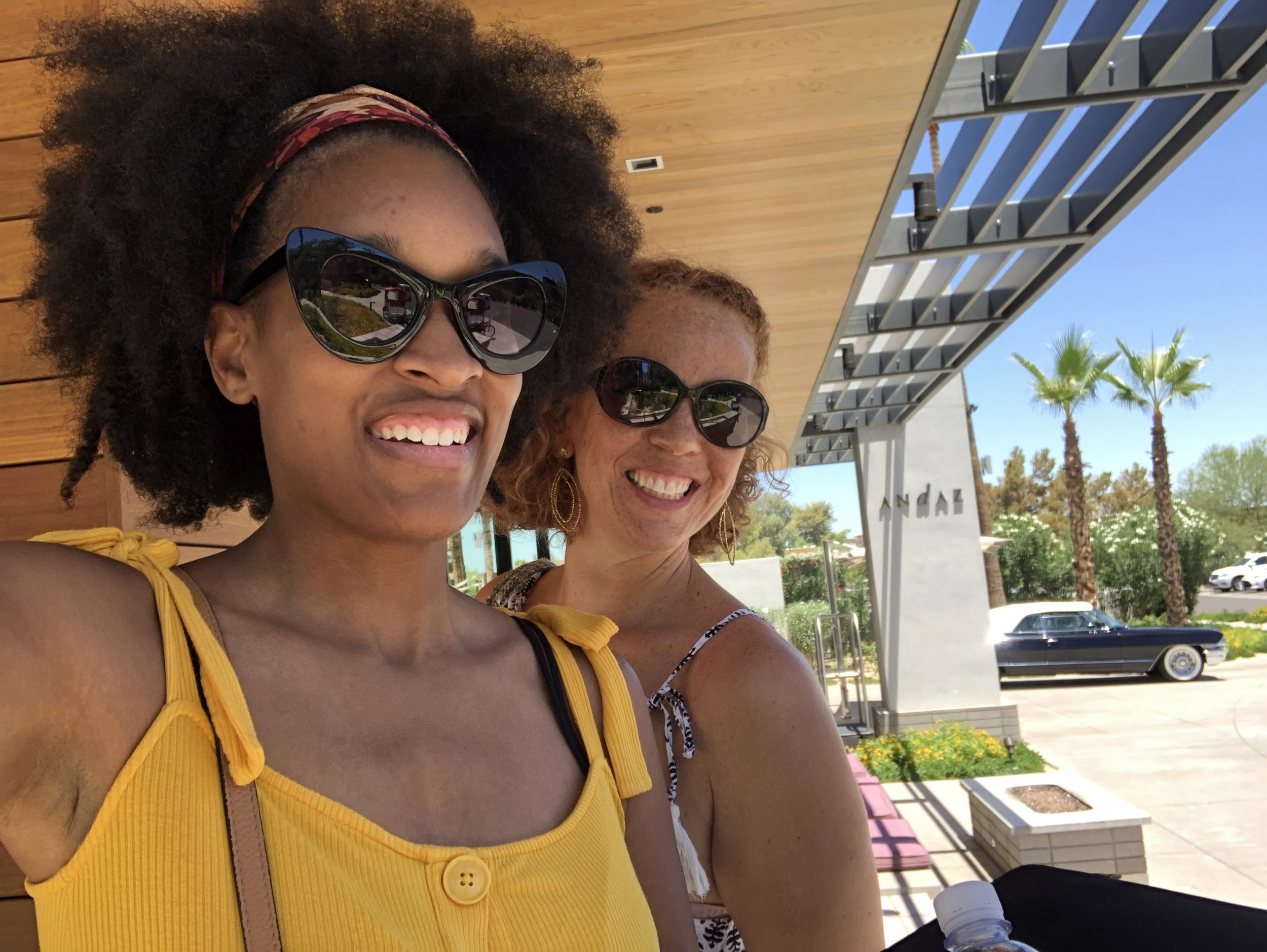 Touring and location scouting at Andaz Scottsdale Resort & Spa