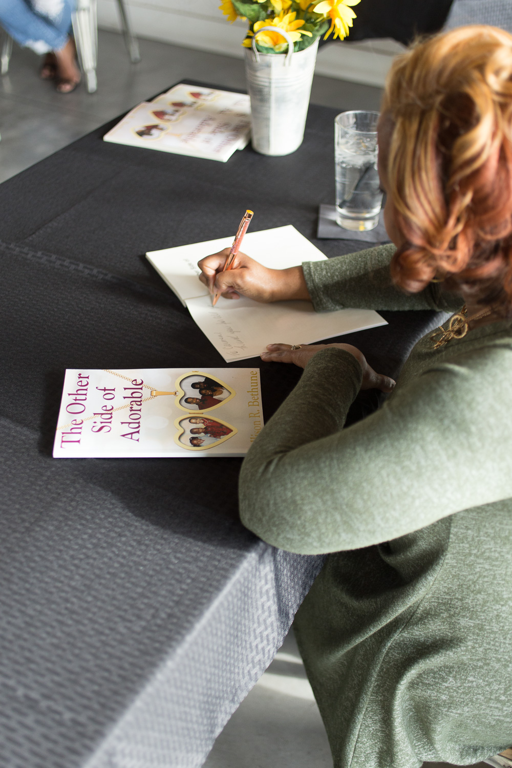 """author Allison R. Bethune """"The Other Side of Adorable"""" book signing"""