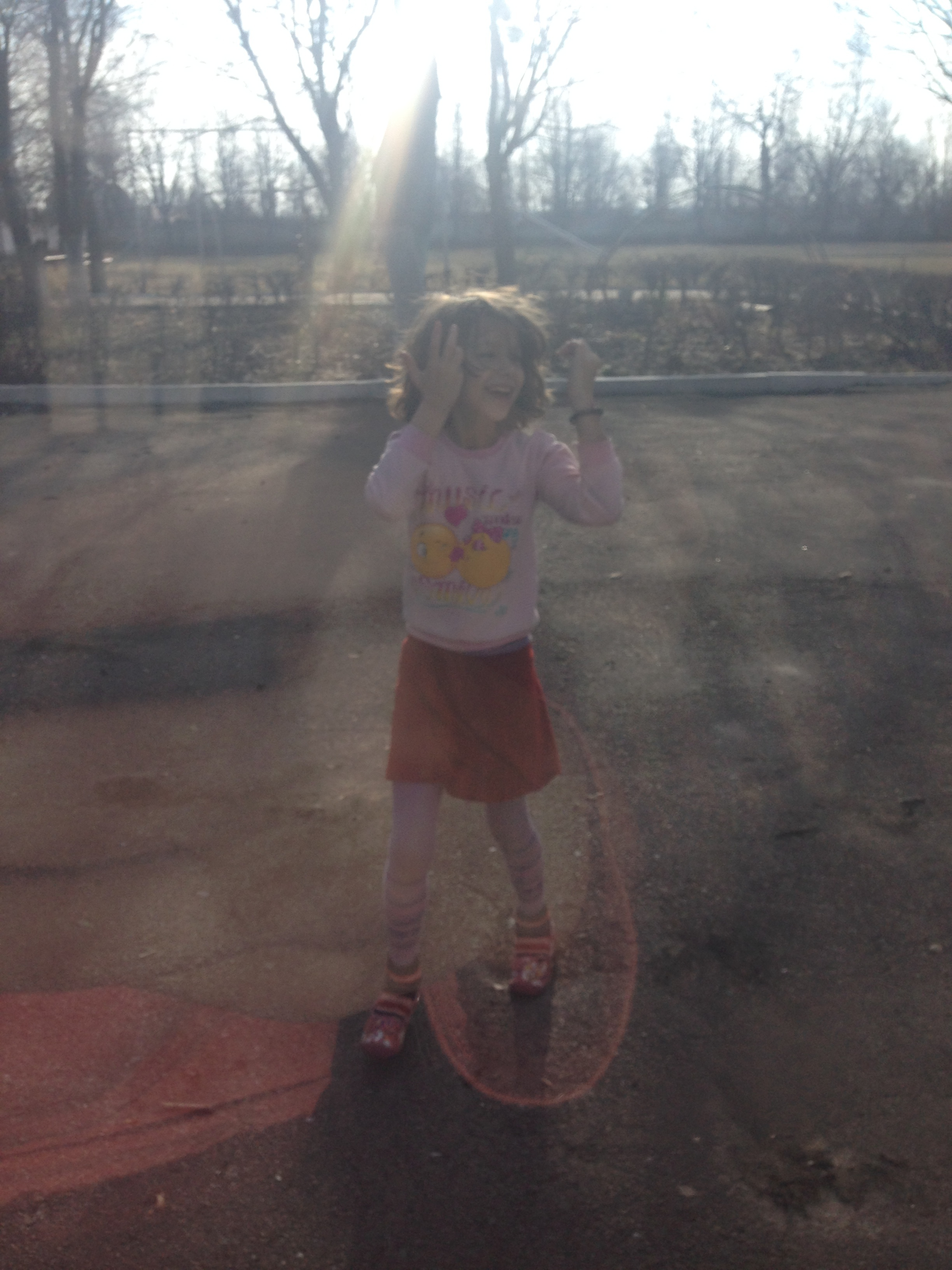 Not the best quality because I didn't have my camera with me, but this is one of the girls I played with at Zmerinka. She and several other kids waved goodbye and tried to crawl in the van with us as we left.