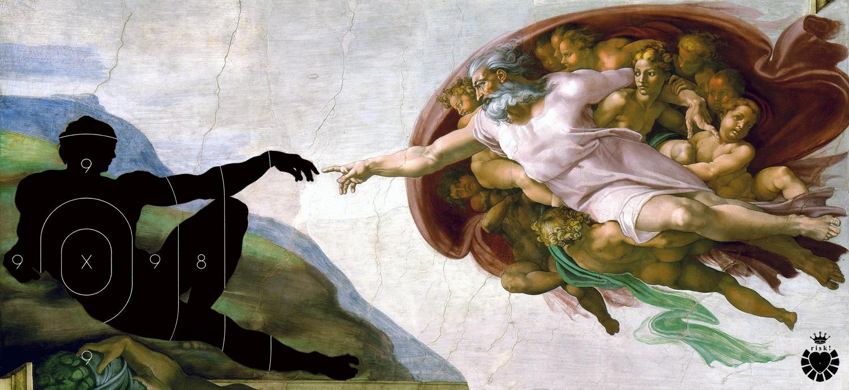 Michelangelo's Risk / 36 x 80 / Original Sold