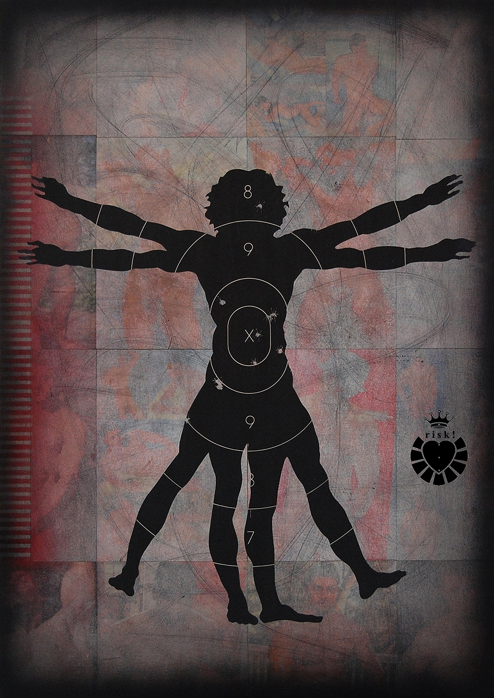 Vitruvian Risk / 36 x 25 / Original Sold / Prints Available