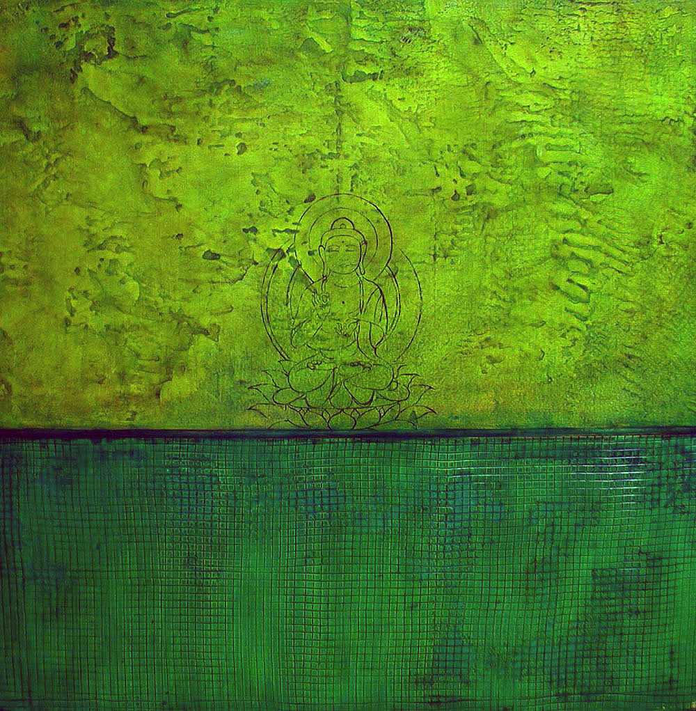 Emerald Buddha / 48 x 48 / Original / Sold