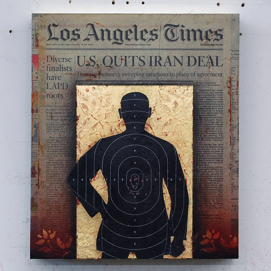 Los Angeles Times / 9 May, 2018 / 14 x 12 x 3 inches / Original Sold