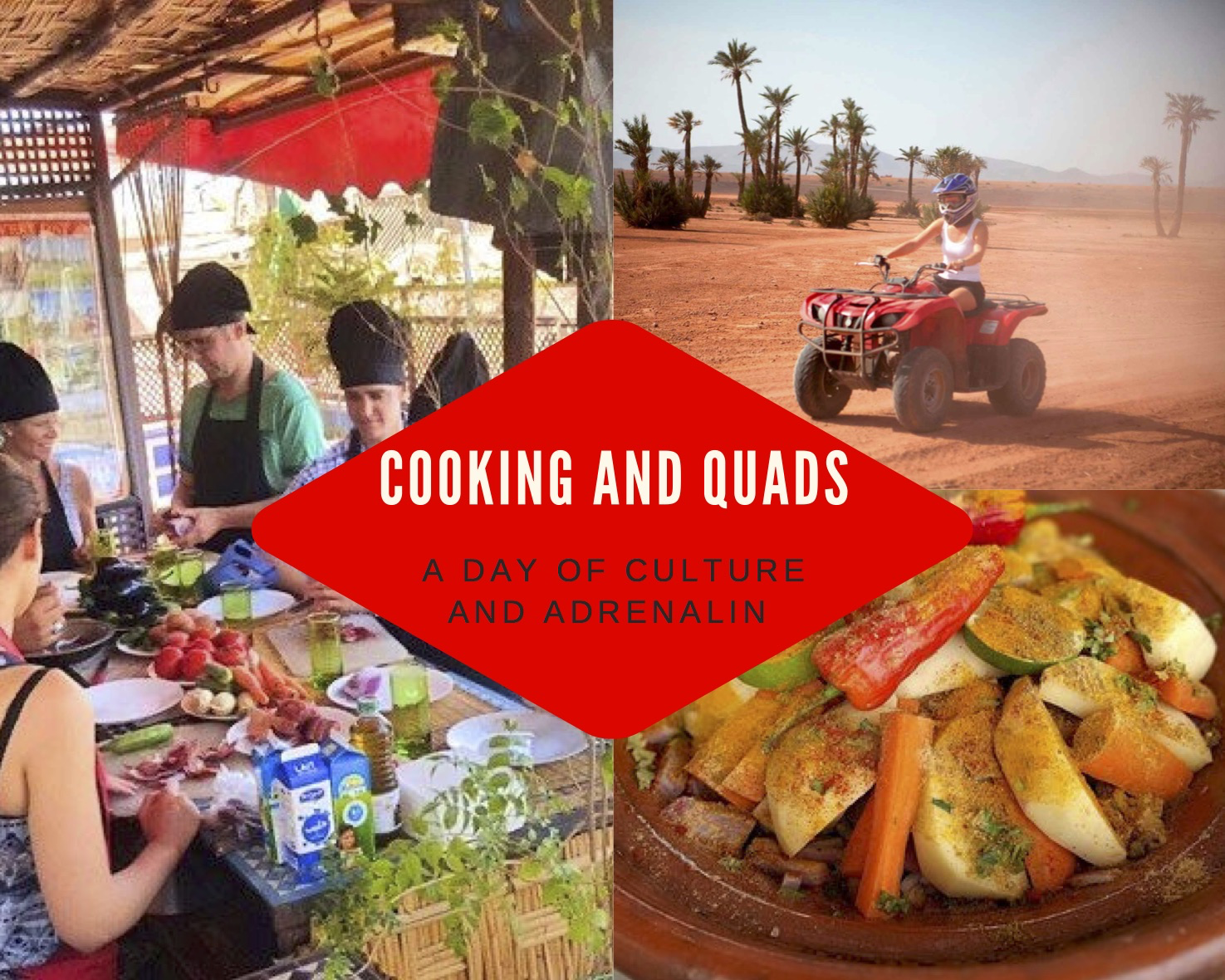 FULL DAY - COOKING CLASS AND QUAD BIKING!