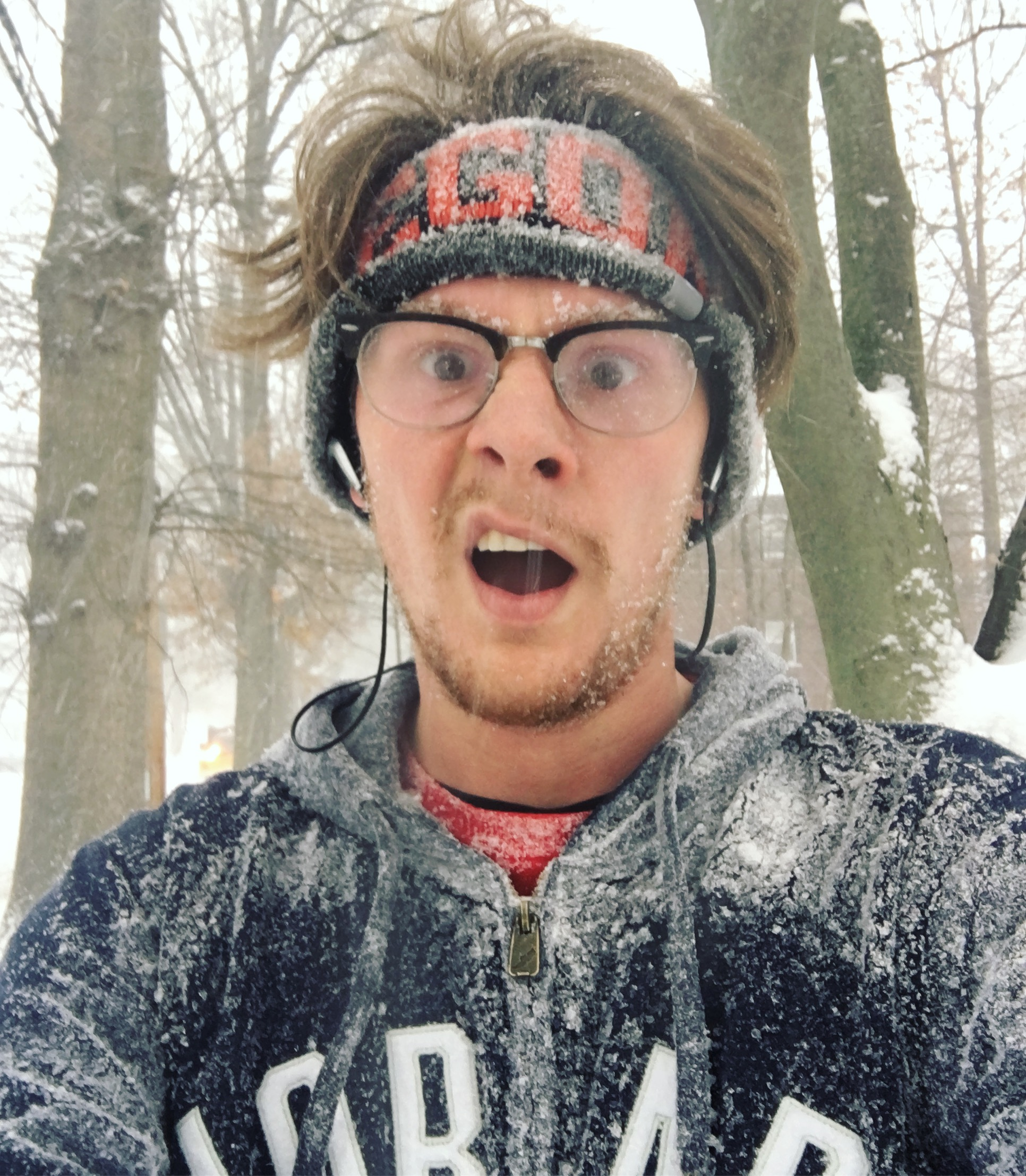 I recently ran a half marathon in a snow storm. Very fun, but very stupid.