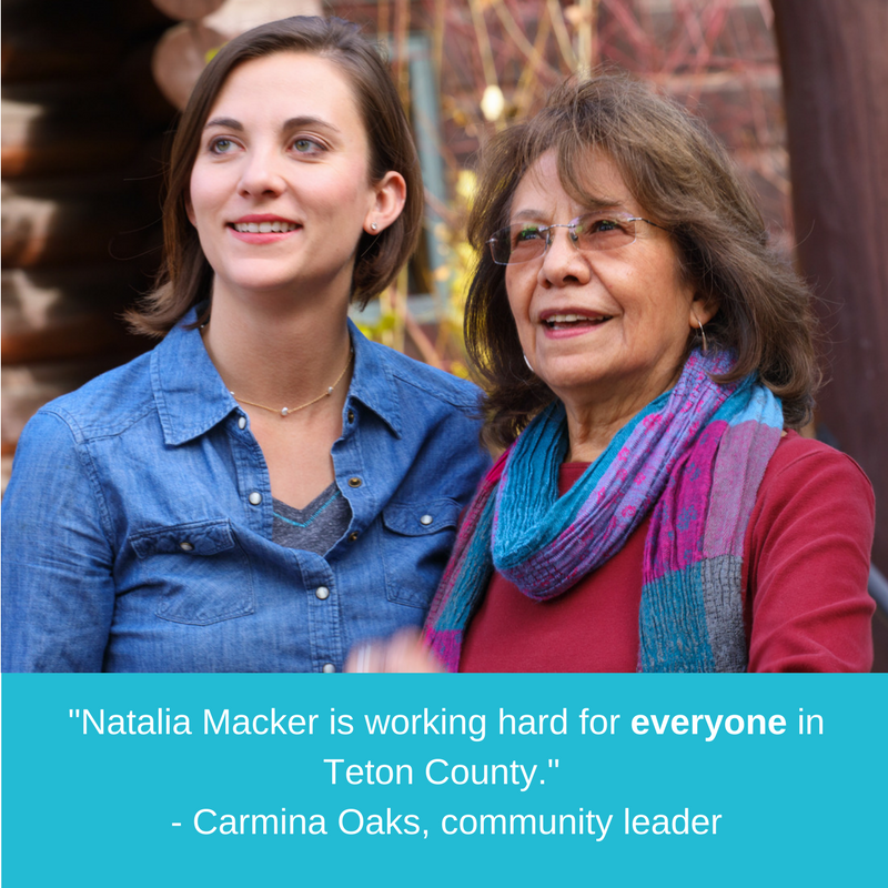 Natalia Macker is working hard for everyone in Teton County. - Carmina Oaks, community leader-2.png