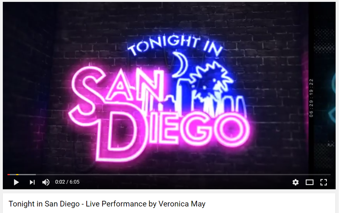 TONIGHT IN SAN DIEGO - LIVE PERFORMANCE BY VERONICA MAY