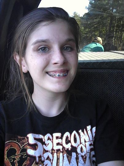 Teenage Haley, who snapped the supposedly supernatural selfie.