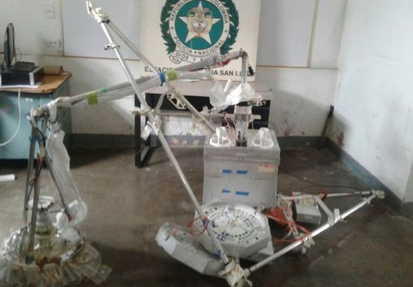 The remains of the captured equipment, once in custody. Image credit: Colombian Police