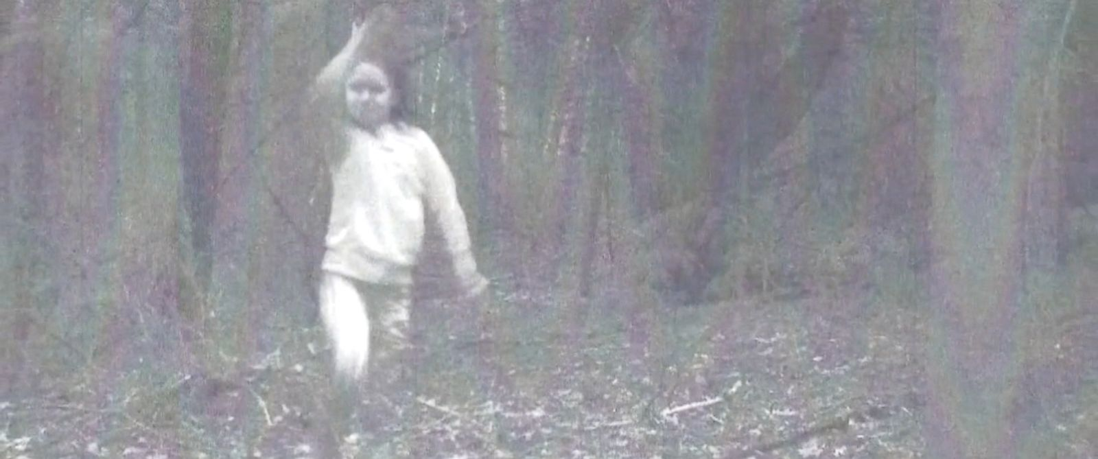 The image of the purported ghost girl.
