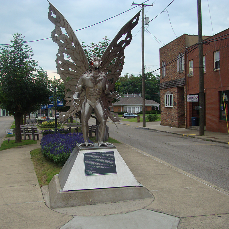 Point Pleasant unveiled this statue of the Mothman by artist and sculptor Bob Roach in 2003, one year after the first annual Mothman Festival was held.