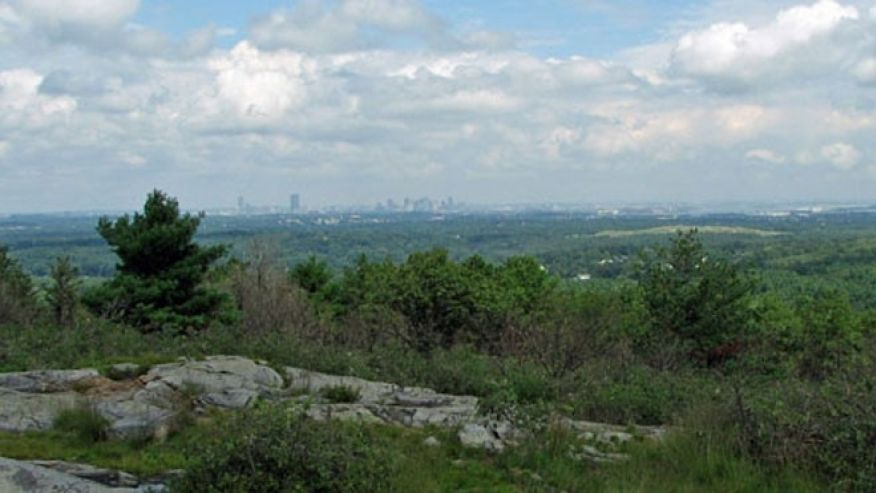 Boston as seen over the Blue Hills.  (Image credit:  Massachusetts Office of Energy and Environmental Affairs)